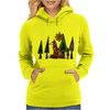 Artistic Red Fox in Woods Original Artwork Womens Hoodie