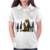 Artistic Red Fox in Woods Original Artwork Womens Polo