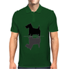 Artistic Scottish Terrier Reflections Art Mens Polo