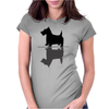 Artistic Scottish Terrier Reflections Art Womens Fitted T-Shirt
