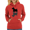 Artistic Scottish Terrier Reflections Art Womens Hoodie
