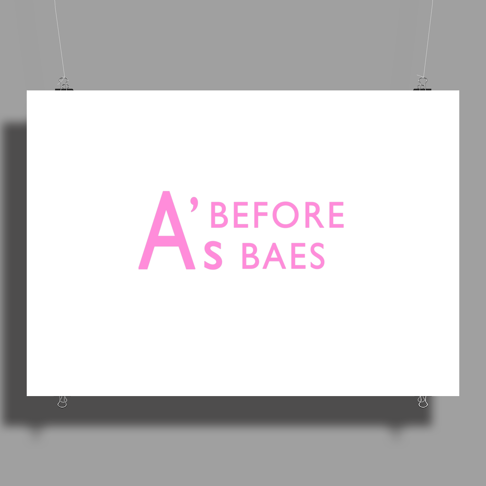 A's Before Baes Poster Print (Landscape)