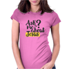 Ask Me About Jesus Womens Fitted T-Shirt