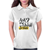 Ask Me About Jesus Womens Polo