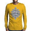 Asscher Diamond Brooch Mens Long Sleeve T-Shirt