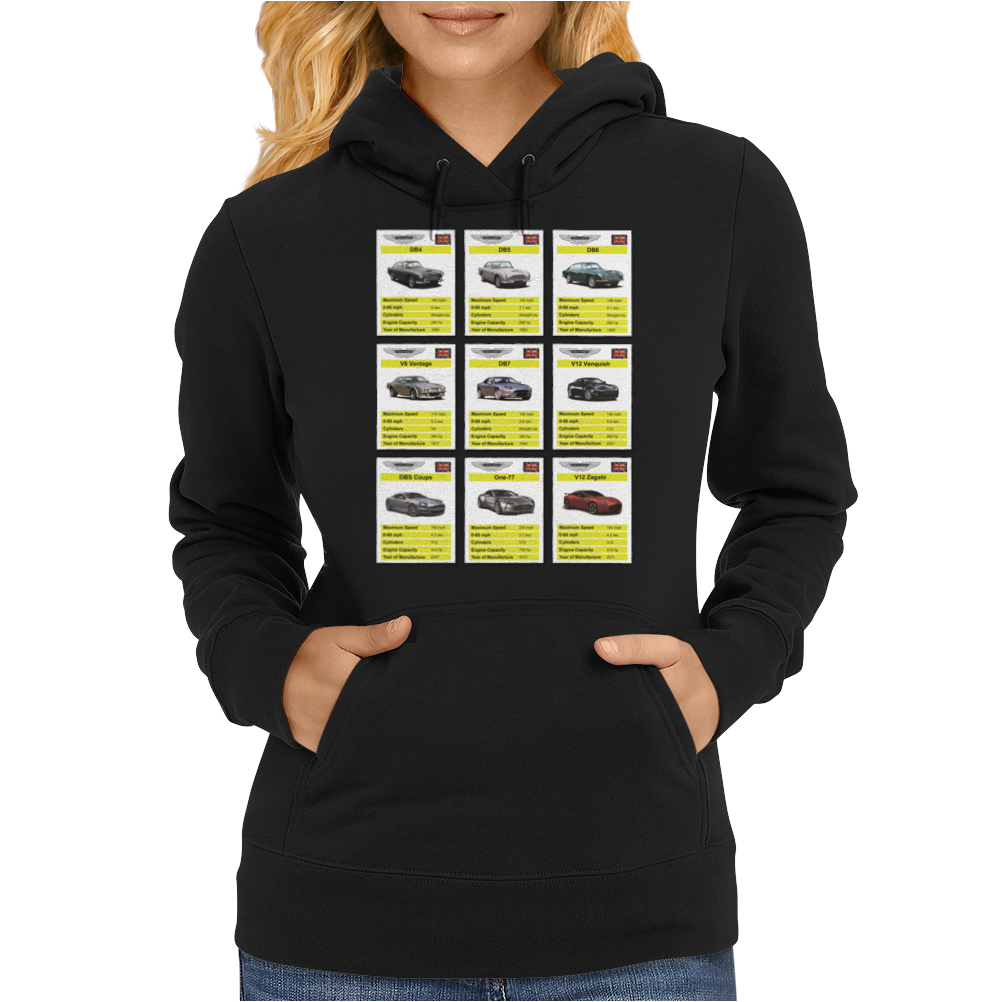 Aston Martin Top Trumps Womens Hoodie