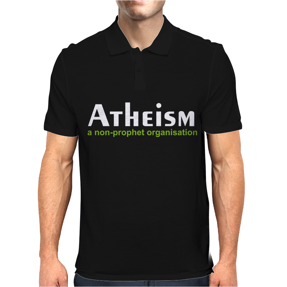 Atheism funny retro religion Jesus Christ believer comic God Mens Polo
