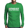 ATHEIST BIBLE LIES GOD SINNER AGNOSTIC HUMANIST ATHIEST Mens Long Sleeve T-Shirt