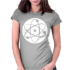 Atom Symbol Funny Womens Fitted T-Shirt