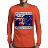 Australian Blues-Written In Blood Mens Long Sleeve T-Shirt