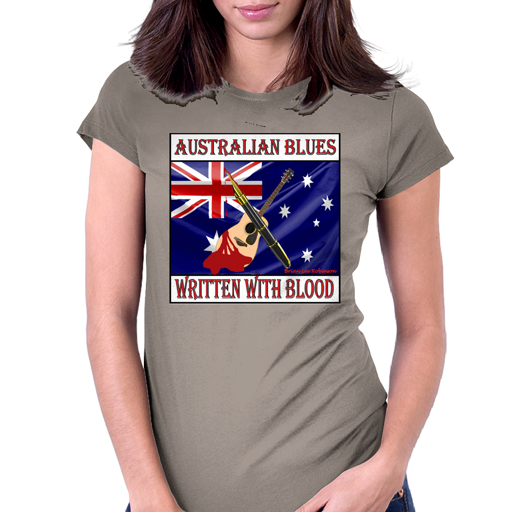 Australian Blues- Written With Blood Womens Fitted T-Shirt