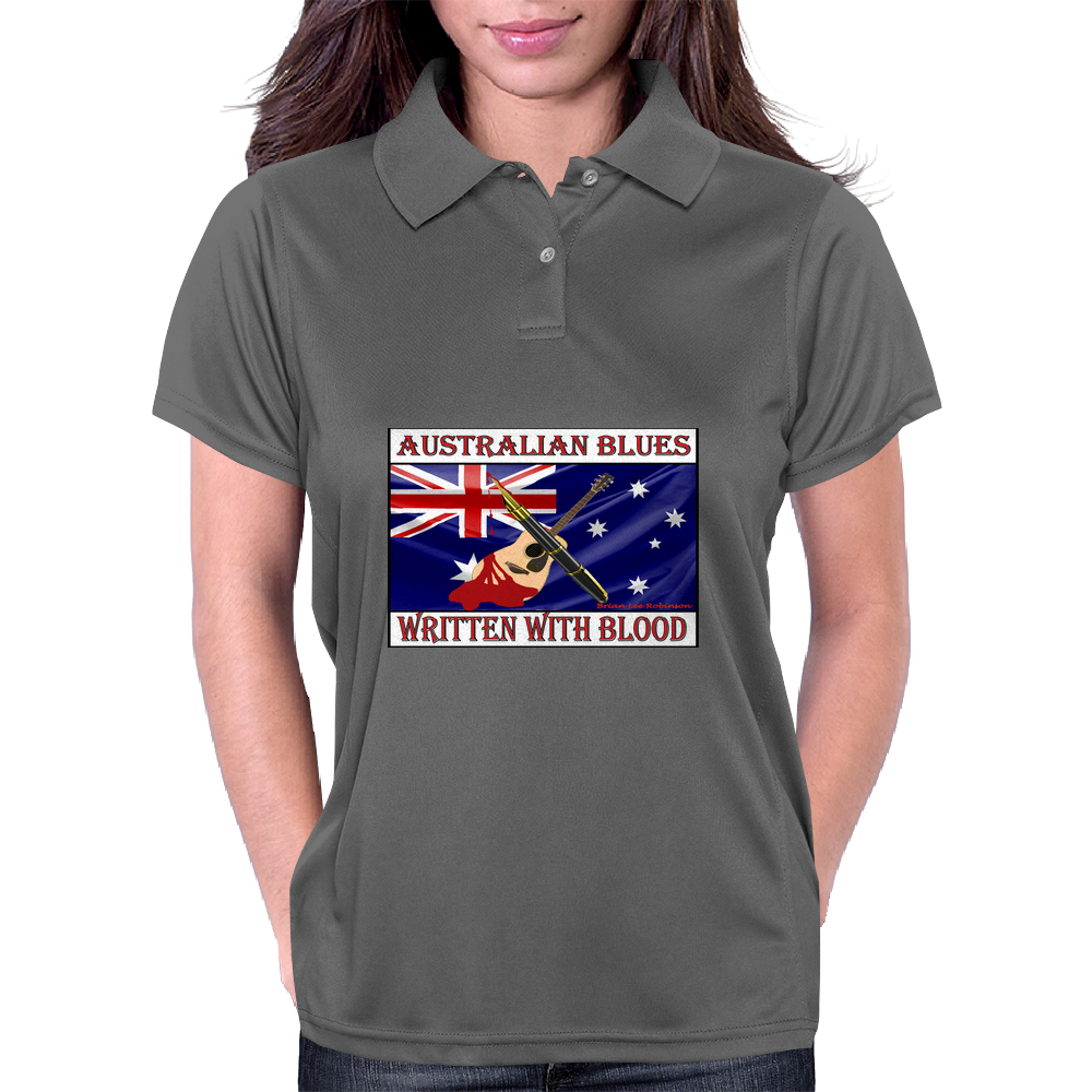 Australian Blues, Written With Blood Womens Polo
