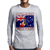 Australian Music - Written In Blood Mens Long Sleeve T-Shirt