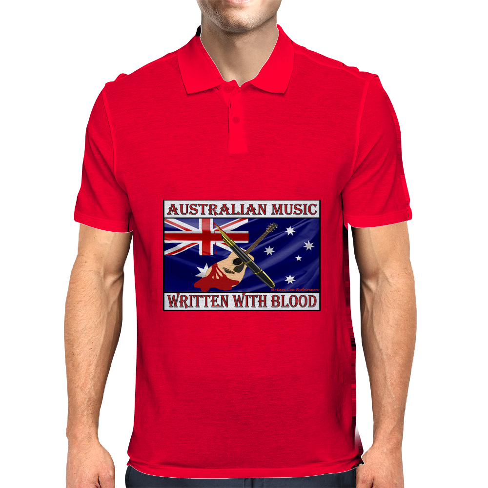 Australian Music, Written With Blood Mens Polo