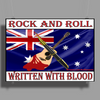 Australian Rock and Roll, Written With Blood Poster Print (Landscape)