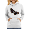 Authentic Aboriginal Arts - Butterfly Womens Hoodie
