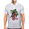 Avengers Age Of Ultron group shot Mens Polo
