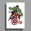 Avengers Age of Ultron Group shot outlined Poster Print (Portrait)