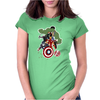 Avengers Age of Ultron Group shot outlined Womens Fitted T-Shirt