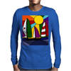 Awesome Abstract Art Sailboats in the Sun Original Mens Long Sleeve T-Shirt