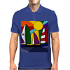 Awesome Abstract Art Sailboats in the Sun Original Mens Polo