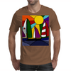 Awesome Abstract Art Sailboats in the Sun Original Mens T-Shirt