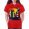 Awesome Abstract Art Sailboats in the Sun Original Womens Polo