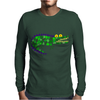 Awesome and Funny Crocodile Art Abstract Original Mens Long Sleeve T-Shirt
