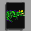 Awesome and Funny Crocodile Art Abstract Original Poster Print (Portrait)