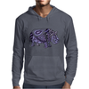 Awesome Artistic Blue and Purple Hippo Abstract Art Mens Hoodie