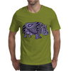 Awesome Artistic Blue and Purple Hippo Abstract Art Mens T-Shirt