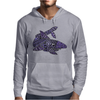 Awesome Artistic Blue Shark Abstract Mens Hoodie