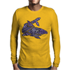 Awesome Artistic Blue Shark Abstract Mens Long Sleeve T-Shirt