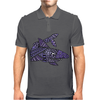 Awesome Artistic Blue Shark Abstract Mens Polo