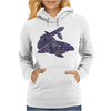 Awesome Artistic Blue Shark Abstract Womens Hoodie
