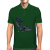 Awesome Artistic Blue Whale Abstract Art Mens Polo
