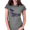 Awesome Artistic Blue Whale Abstract Art Womens Fitted T-Shirt