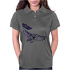 Awesome Artistic Blue Whale Abstract Art Womens Polo