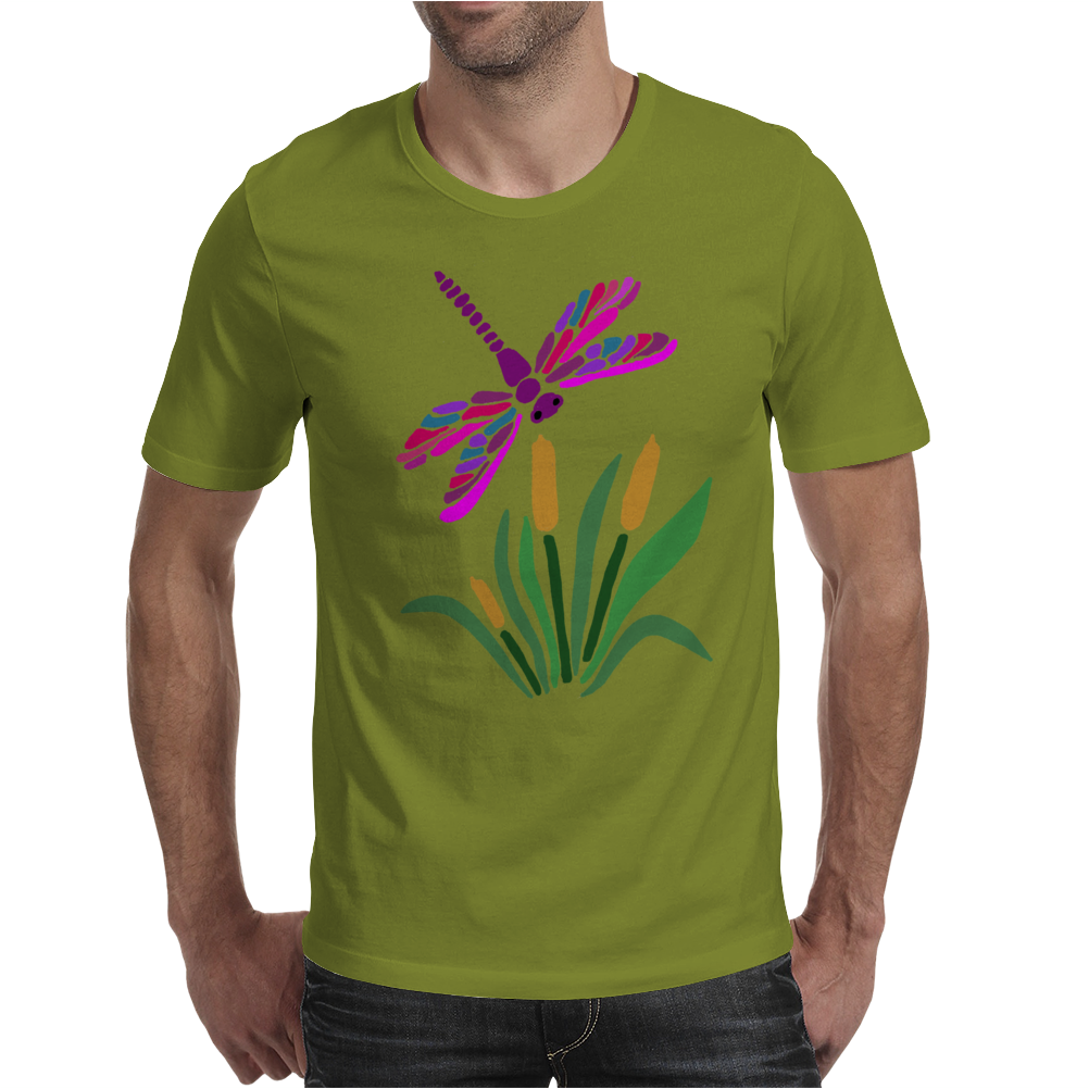 Awesome Artistic Dragonfly Abstract Art Mens T-Shirt