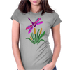 Awesome Artistic Dragonfly Abstract Art Womens Fitted T-Shirt