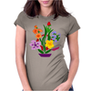 Awesome Artistic Floral Abstract Art Arrangement Womens Fitted T-Shirt