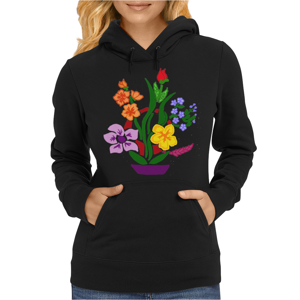 Awesome Artistic Floral Abstract Art Arrangement Womens Hoodie