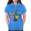 Awesome Artistic Floral Abstract Art Arrangement Womens Polo