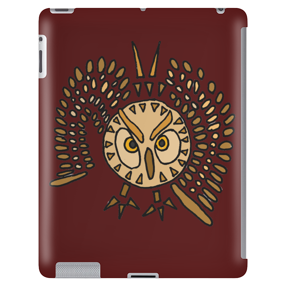 Awesome Artistic Flying Owl Abstract Art Tablet