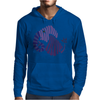 Awesome Artistic Fun Blue Elephant Abstract Mens Hoodie