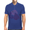 Awesome Artistic Fun Blue Elephant Abstract Mens Polo