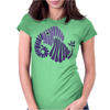 Awesome Artistic Fun Blue Elephant Abstract Womens Fitted T-Shirt