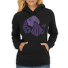 Awesome Artistic Fun Blue Elephant Abstract Womens Hoodie