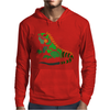 Awesome Artistic Green Iguana Art Abstract Mens Hoodie