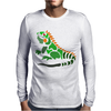 Awesome Artistic Green Iguana Art Abstract Mens Long Sleeve T-Shirt